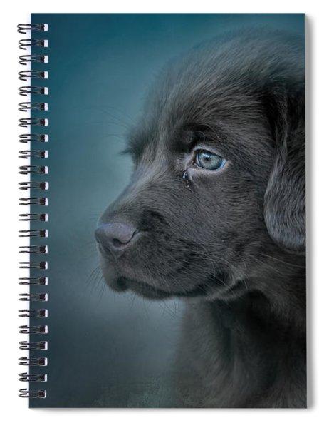 Blue Eyed Puppy Spiral Notebook
