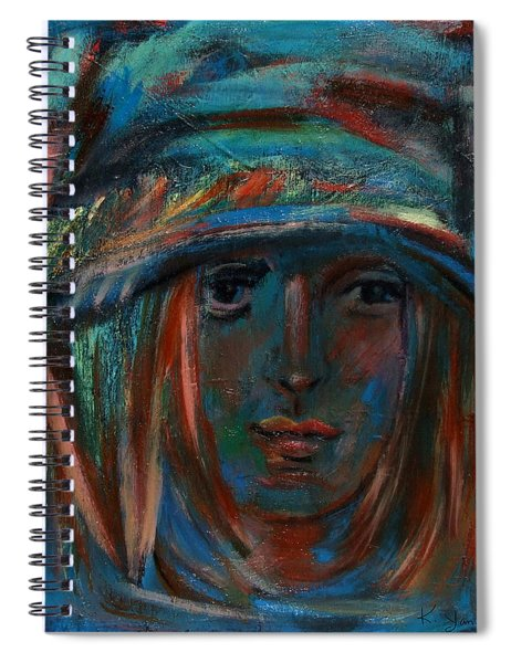 Blue Faced Girl Spiral Notebook