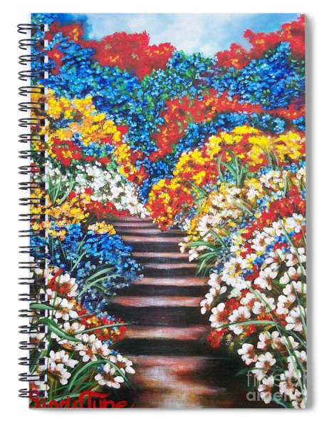 Chloe The   Flying Lamb Productions        Blue Garden Cascade Spiral Notebook