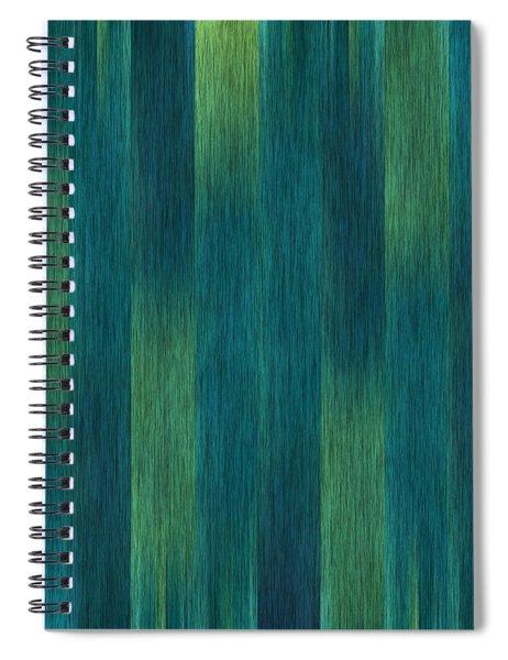 Blue Green Abstract 1 Spiral Notebook