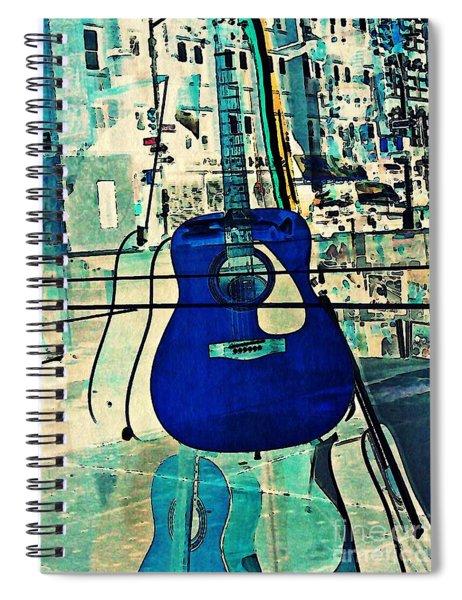 Blue Guitar Spiral Notebook