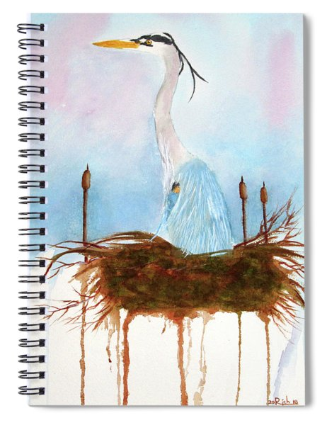 Blue Heron Nesting Spiral Notebook