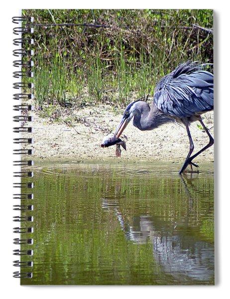 Blue Heron's Lucky Day Spiral Notebook