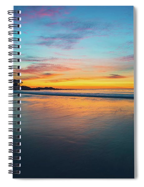 Blue Hour At Carmel, Ca Beach Spiral Notebook