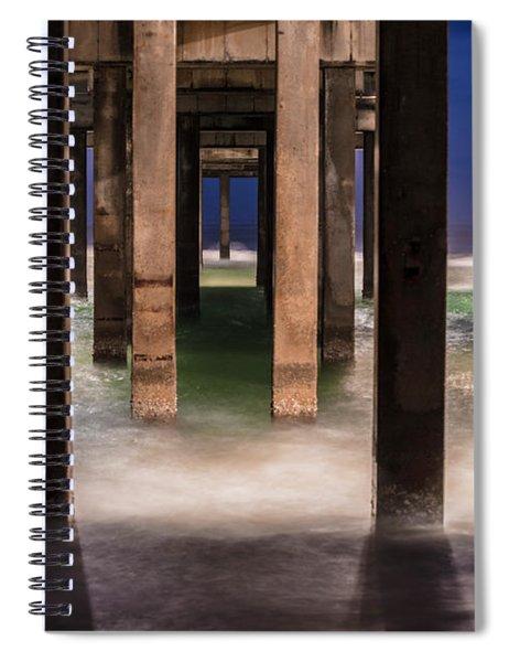 Blue Hour At Gulf Shores Alabama Pier  Spiral Notebook