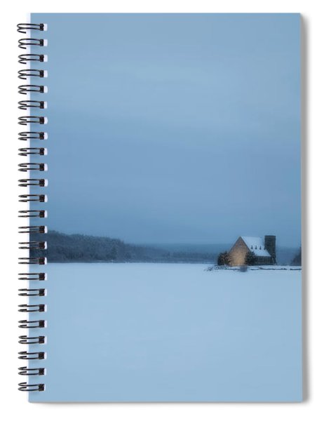 Blue Hour At The Old Stone Church Spiral Notebook