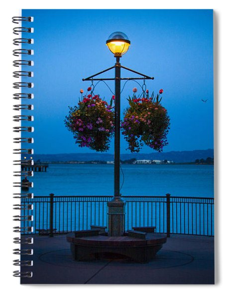 Blue Hour At The Waterfront Spiral Notebook