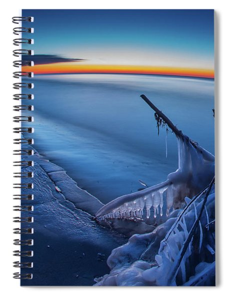 Blue Hour Fisheye Spiral Notebook