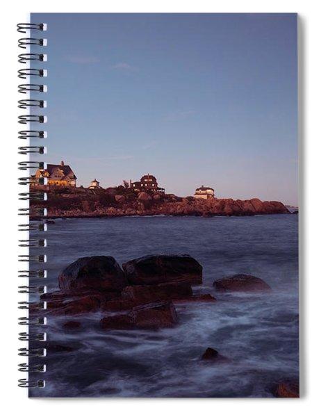Blue Hour In Gloucester Spiral Notebook
