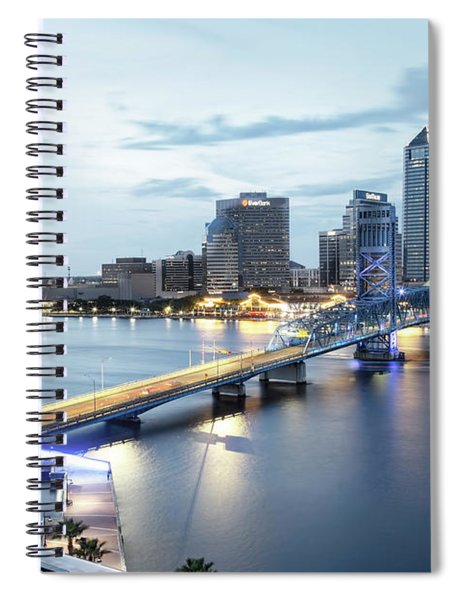 Blue Hour In Jacksonville Spiral Notebook