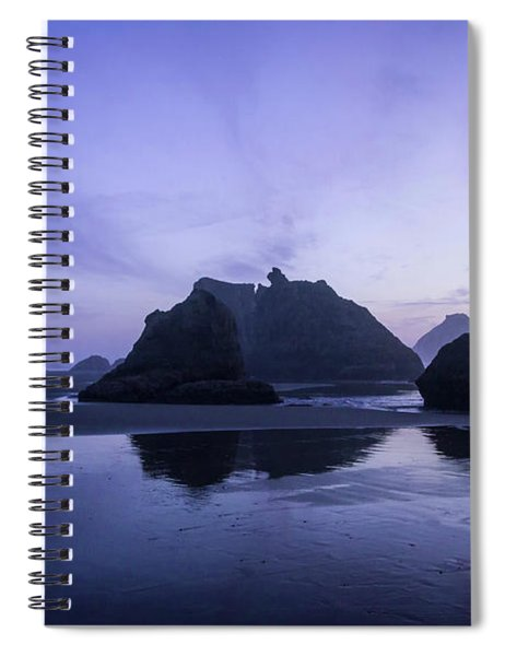 Blue Hour Reflections Spiral Notebook
