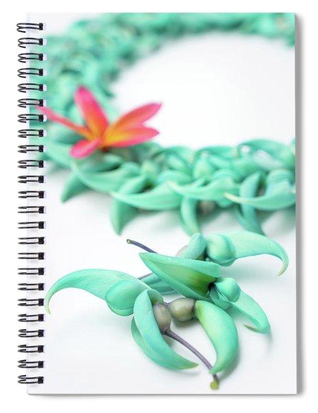 Blue Jade Lei Spiral Notebook