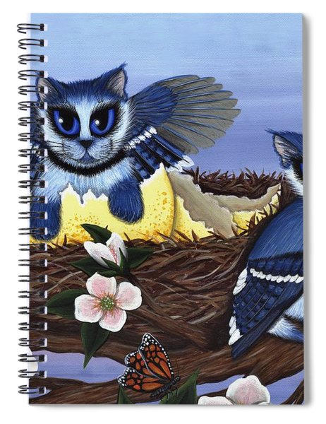 Blue Jay Kittens Spiral Notebook