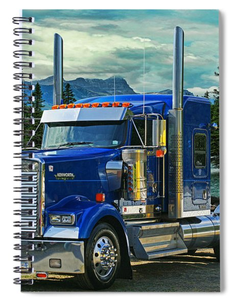 Blue Kenworth At Banff Spiral Notebook