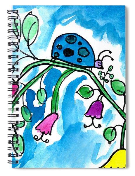 Blue Ladybug Spiral Notebook