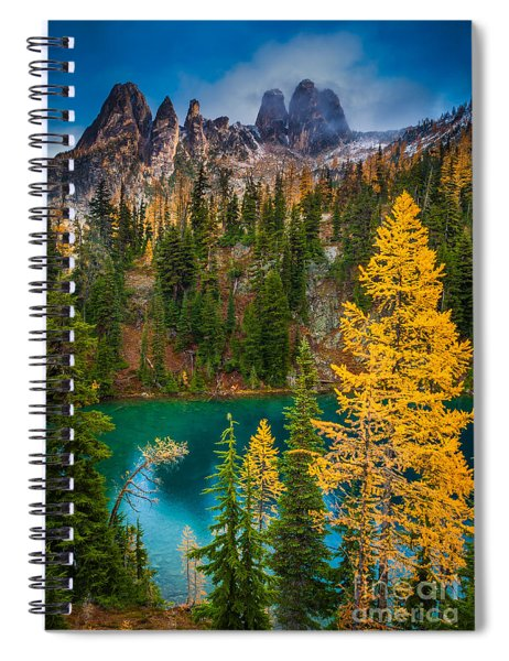 Blue Lake And Early Winter Spires Spiral Notebook