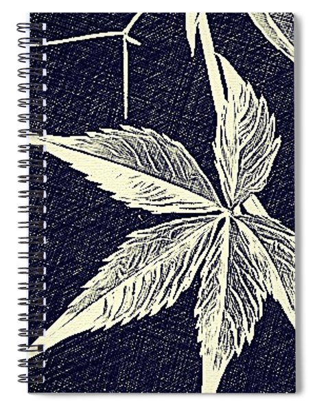 Blue Leaf Spiral Notebook