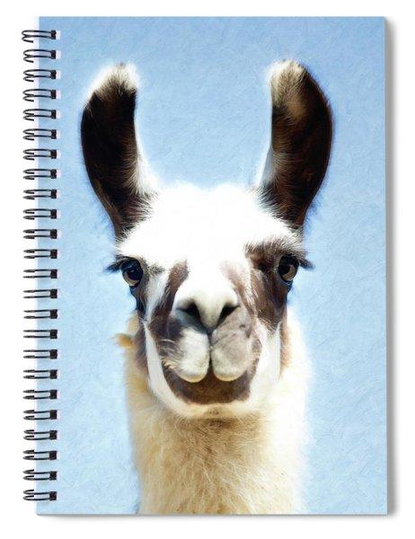 Blue Llama Spiral Notebook
