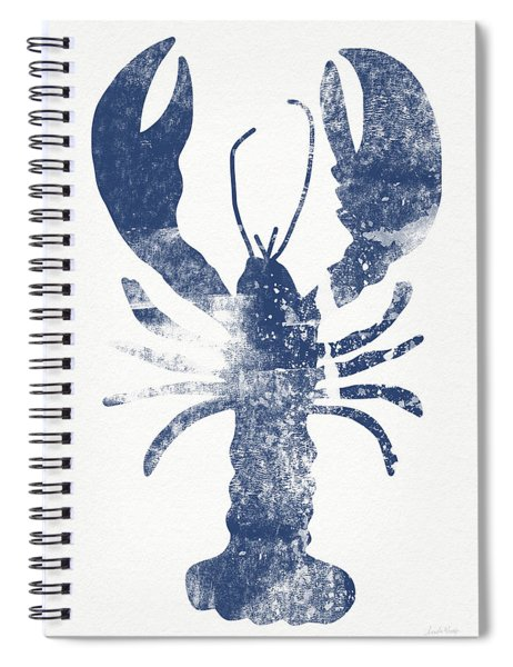 Blue Lobster- Art By Linda Woods Spiral Notebook by Linda Woods
