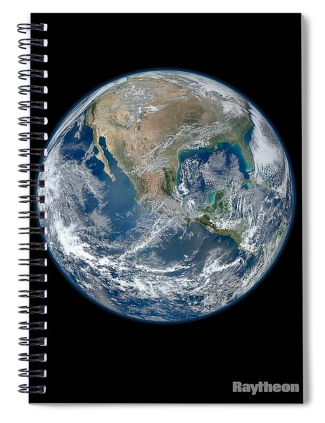 Blue Marble On Western Hemispere Spiral Notebook