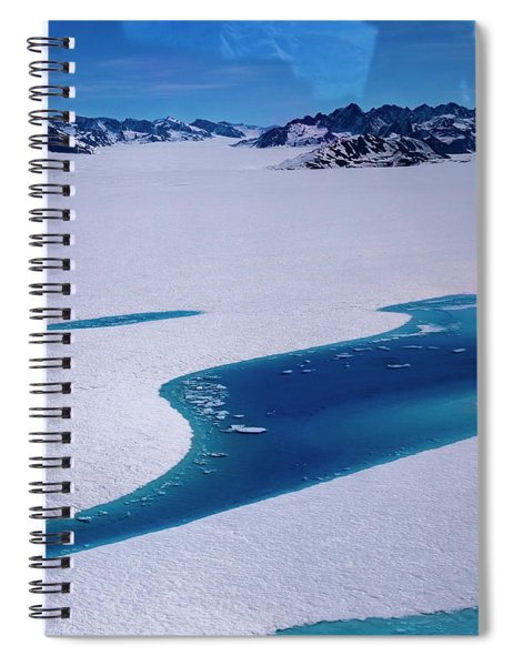 Blue Meltwater Lake  Spiral Notebook
