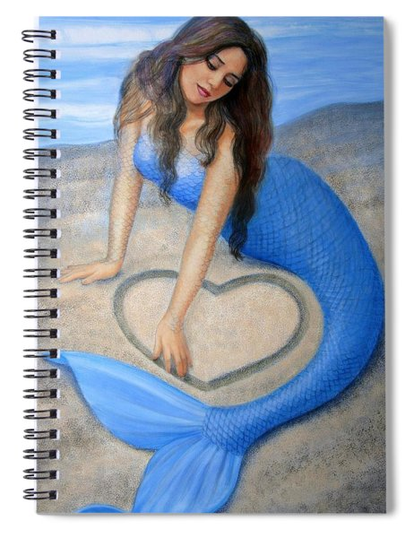 Blue Mermaid's Heart Spiral Notebook