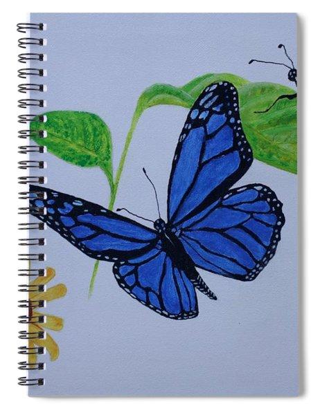 Blue Monarch Spiral Notebook