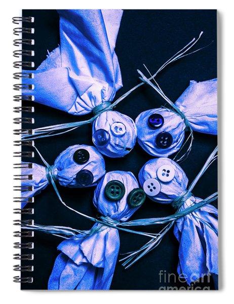 Blue Moon Halloween Scarecrows Spiral Notebook