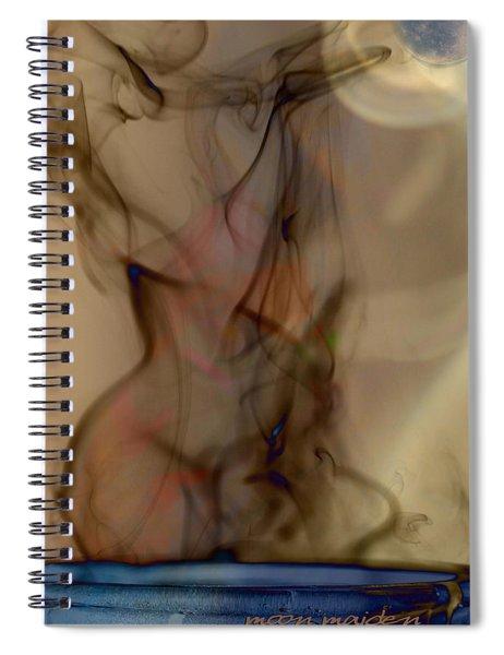 Blue Moon Maiden Spiral Notebook