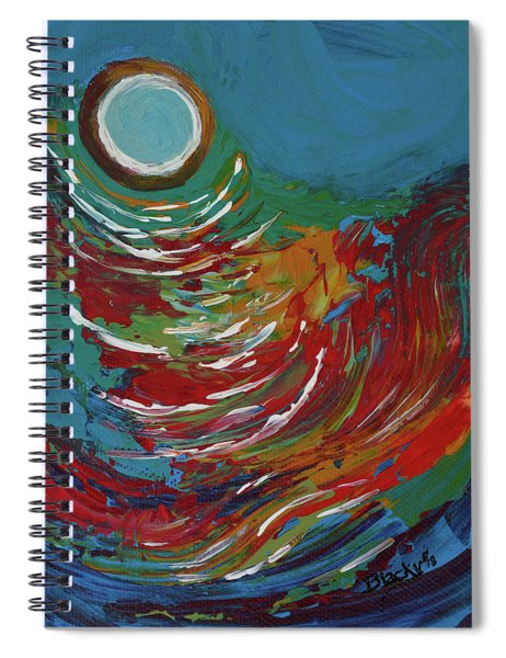 Blue Moon On The Water Spiral Notebook