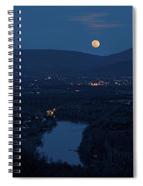 Blue Moon Over The Shenandoah River Spiral Notebook