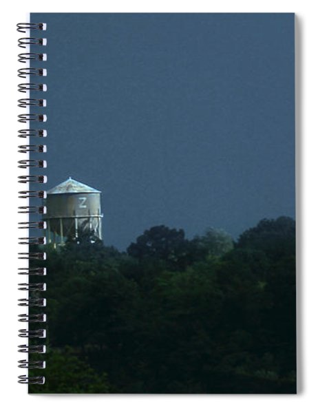 Blue Moon Over Zanesville Water Tower Spiral Notebook