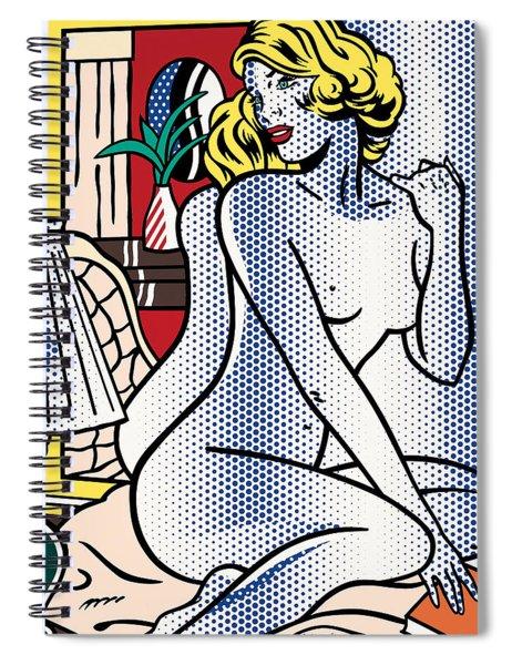 Blue Nude - Pop Art  Spiral Notebook
