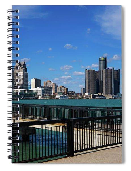 Blue Obelisk And Detroit Spiral Notebook