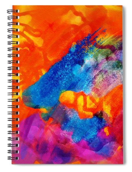 Blue On Orange Spiral Notebook