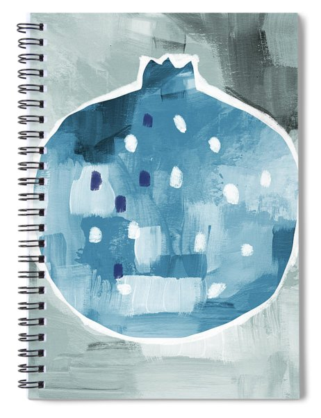 Blue Pomegranate- Art By Linda Woods Spiral Notebook