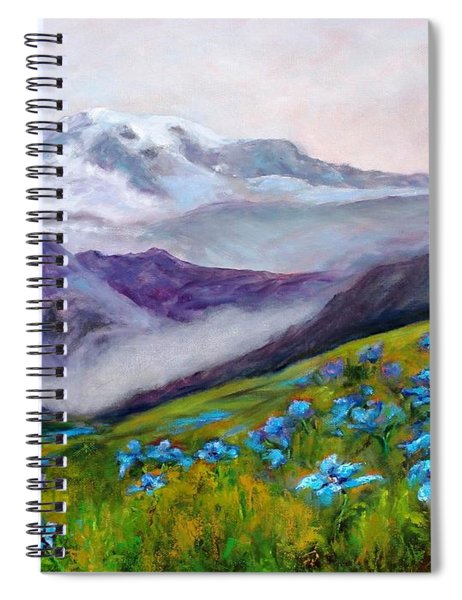 Blue Poppy Field Spiral Notebook