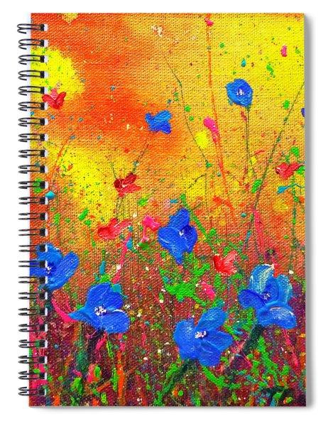 Blue Posies II Spiral Notebook