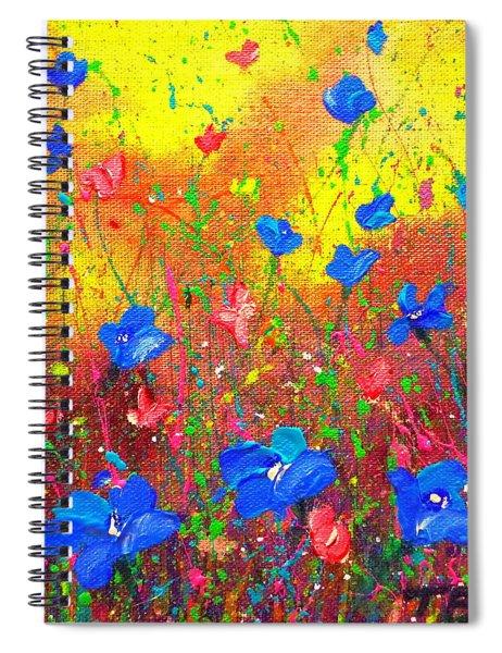 Blue Posies Spiral Notebook