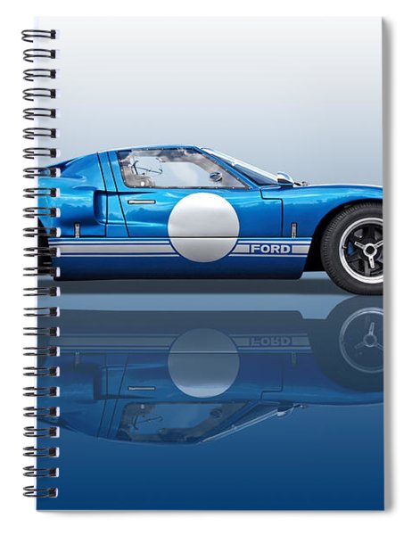 Blue Reflections - Ford Gt40 Spiral Notebook