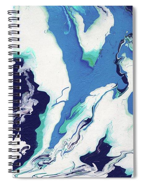 Blue Rhapsody- Art By Linda Woods Spiral Notebook