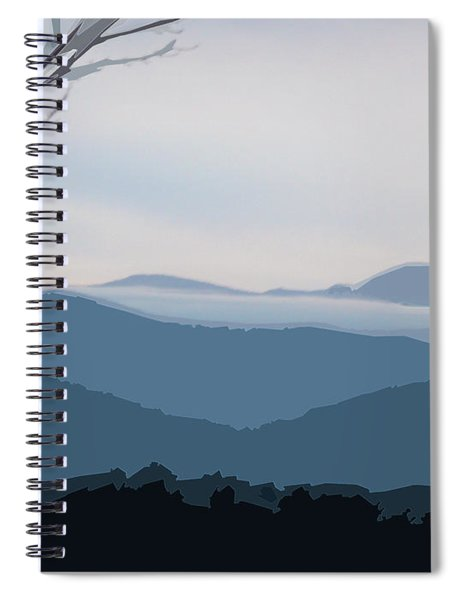 Spiral Notebook featuring the digital art Blue Ridge Above The Clouds by Gina Harrison