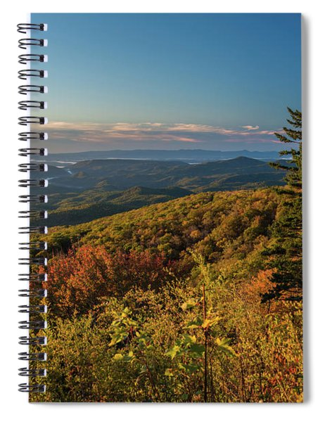 Blue Ridge Mountain Autumn Vista Spiral Notebook