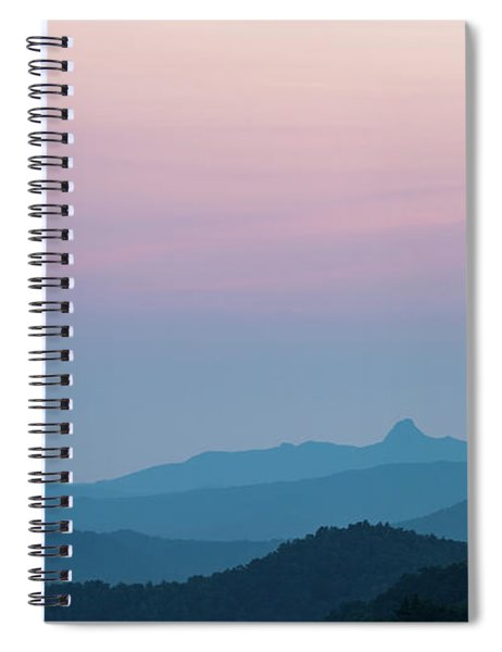Blue Ridge Mountains After Sunset Spiral Notebook