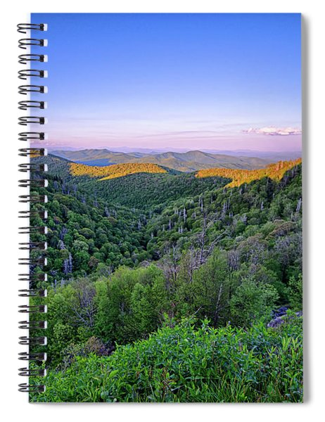 Blue Ridge Parkway Summer Appalachian Mountains Sunset Spiral Notebook by Alex Grichenko
