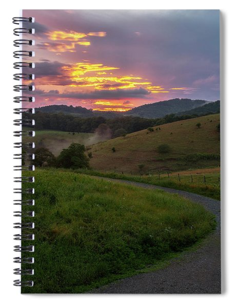 Blue Ridge Sunset Spiral Notebook
