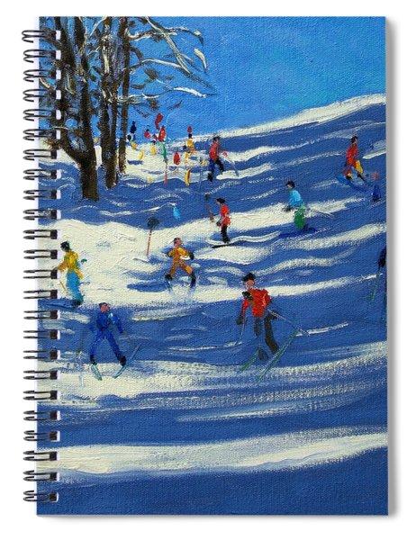 Blue Shadows Spiral Notebook