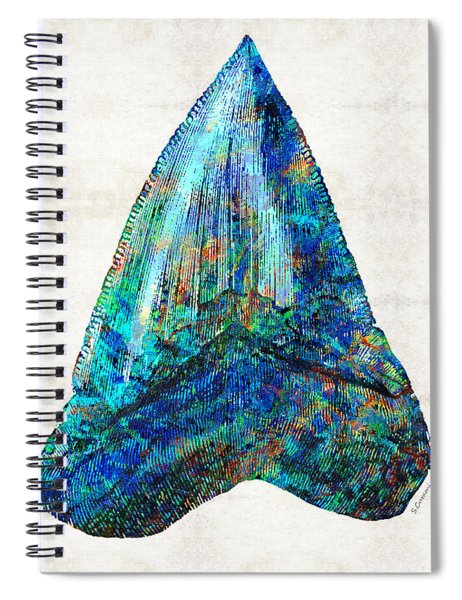 Blue Shark Tooth Art By Sharon Cummings Spiral Notebook