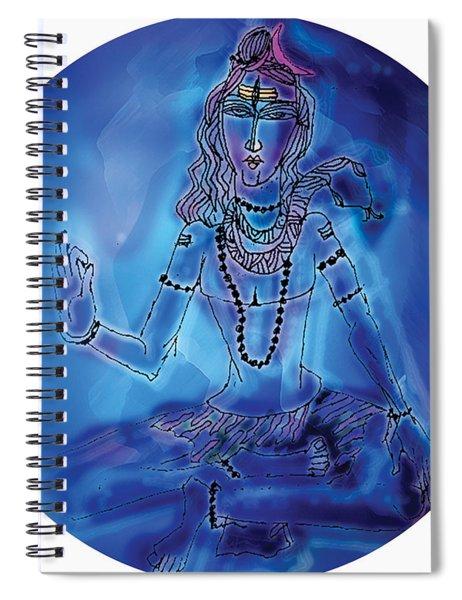 Blue Shiva  Spiral Notebook