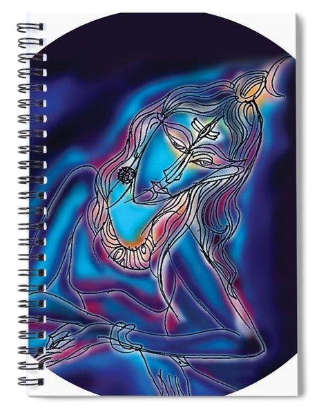 Blue Shiva Light Spiral Notebook